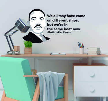 Martin Luther King Ships Wall Quote Sticker