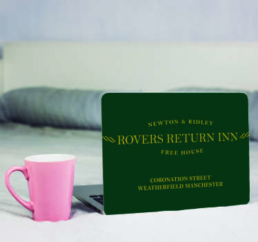 Rovers Return Inn Laptop Sticker