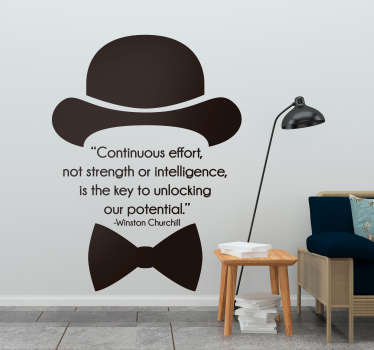 Always remind yourself of the importance of effort with this superb wall quote sticker from Winston Churchill! Extremely long-lasting material.