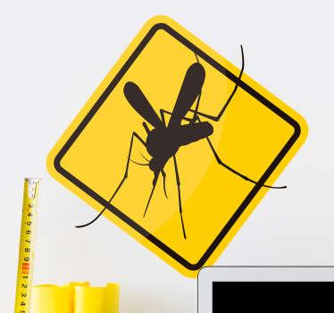 Sticker Maison Attention Moustiques
