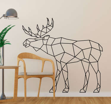 Geometric Moose animal wall sticker