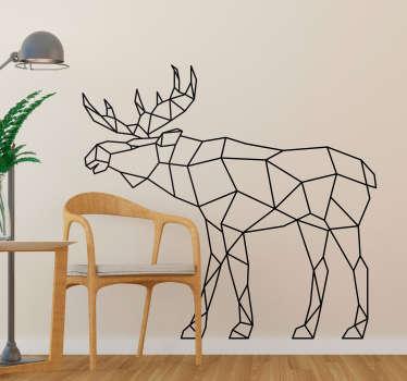Geometrik geyik hayvan duvar sticker