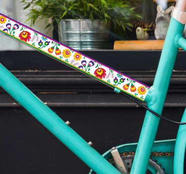 Naklejka na rower Motyw kaszubski folkor