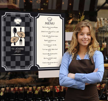 Naklejka karta menu restauracja