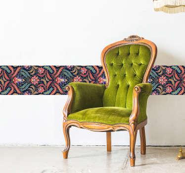 Retro süsleme oturma odası duvar dekoru