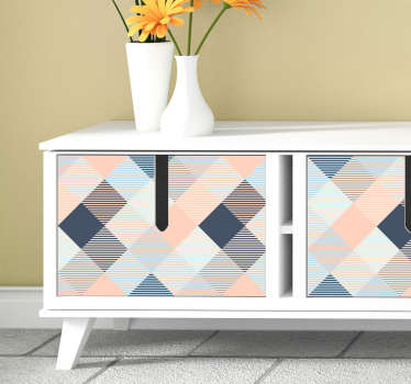 Pastel square furniture sticker to decorate all cabinet, drawer and wardrobe surfaces in the home. Easy to apply and available in nay size.