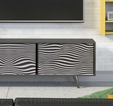 Decorative abstract visual effect relieve pattern furniture sticker to wrap cabinets, drawers, and wardrobes surfaces in the home. Easy to apply.