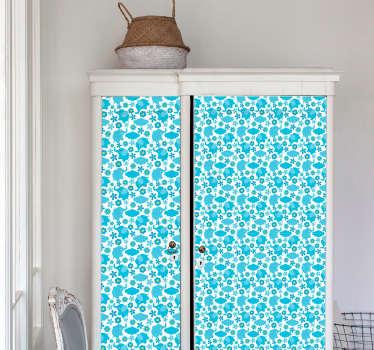 Floral Elephant Pattern vinyl wallpaper