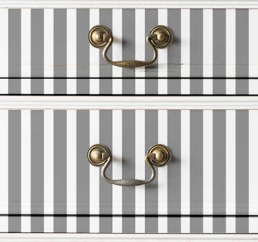 Muurstickers slaapkamer grijze verticale lijnen
