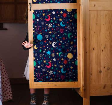 Gökyüzü yıldızlarla dolu alan duvar sticker