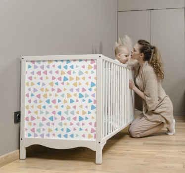 Meubelstickers pastel kleuren kinderpatroon