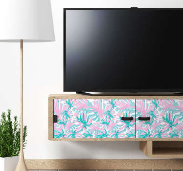Delicious monstrous flower patterned furniture sticker to decorate any furniture surface. Available in any required size. Easy to apply .