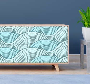 Decorative wave pattern furniture sticker for all home furniture surface. Available in nay desired size. Easy to apply and adhesive.