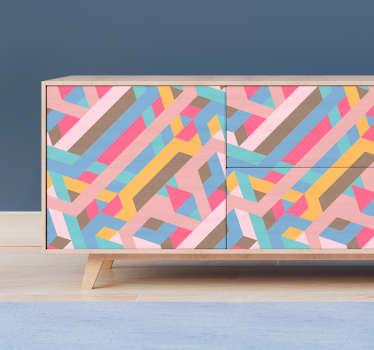 Vinilo para mueble patrón retro abstracto