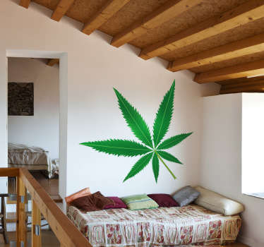 Wall Stickers - Marijuana leaf illustration. Available in various sizes to decorate any room you want.
