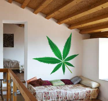 Sticker wietblad marihuana cannabis