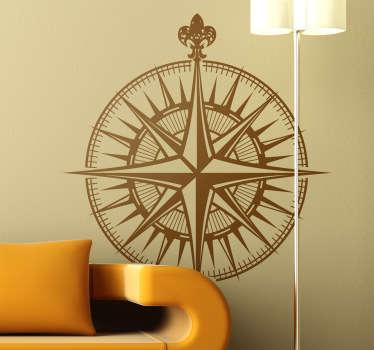 Kompass vägg klistermärke