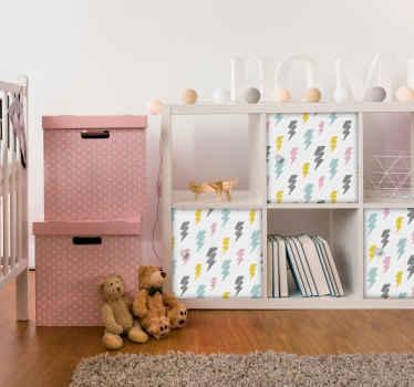 Vinilo para mueble rayos patrón infantil