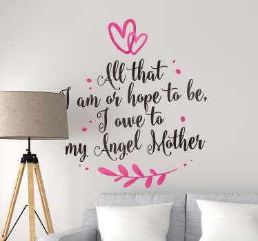 Abraham Lincoln Mother Quote Sticker