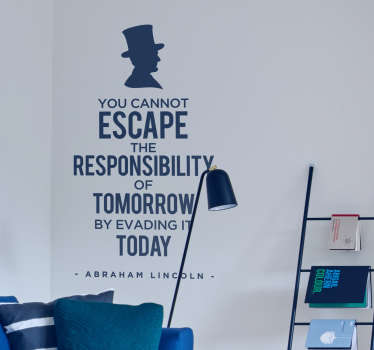 Abraham Lincoln Responsibility Wall Sticker