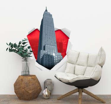 Autocollant Trompe l'Oeil Empire State Building