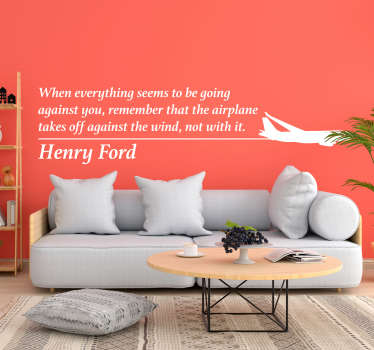 Add some stunning quote decor to your home with this fantastic motivational wall sticker from Henry Ford! +10,000 satisfied customers.