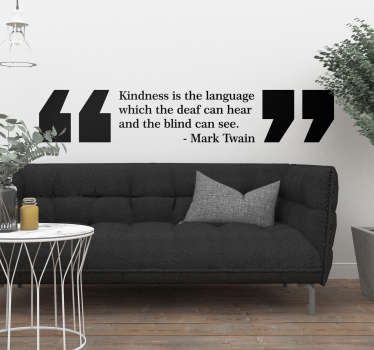 Mark Twain Kindness Living Room Wall Decor
