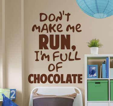 Simpsons Chocolate Quote Sticker