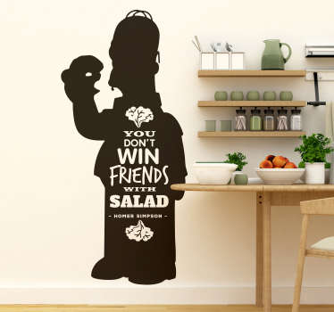 Remind yourself of the benefits of eating as unhealthily as possible with this fantastic Simpson inspired cartoon wall sticker!