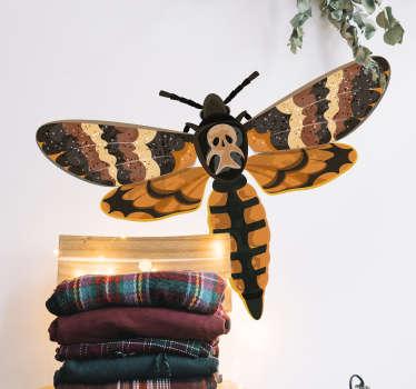 Sticker Maison Insecte avec Crâne