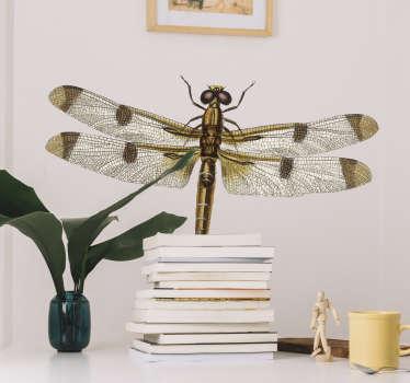 Vinilo insecto libélula realista