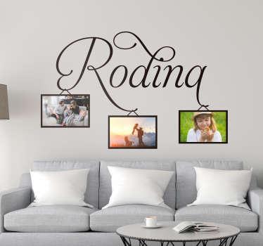 Rodinný obývací pokoj zeď dekor