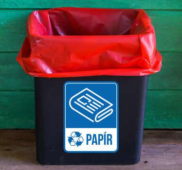 Recyklovat papír emoji nálepka
