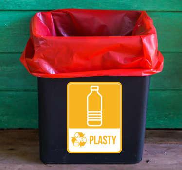 Recyklovat plastové emoji nálepka