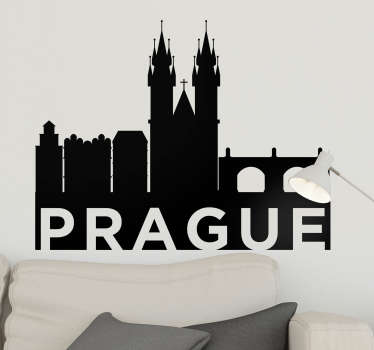 Stickers Monde Silhouette Prague