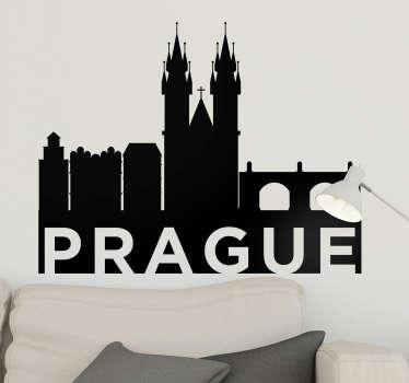 stickers skyline Silhouette Prague