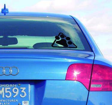 Hunden pote for kjøretøy klistremerke