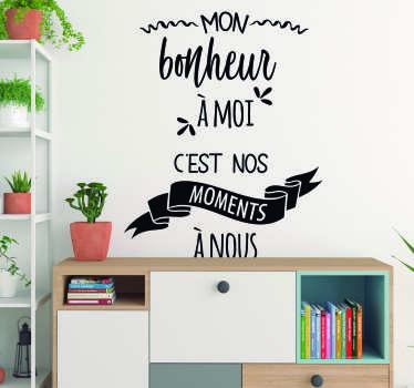 Sticker Motivation mon bonheur à moi