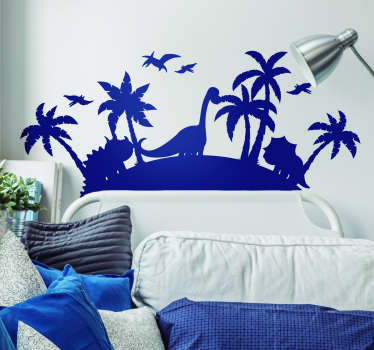 If you want a wall sticker for kid that will make your child travel through time, we have the drawing wall decor of dinosaurs you need !