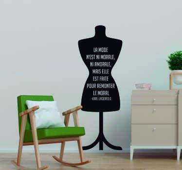 Sticker Maison Citation Lagerfeld La Mode