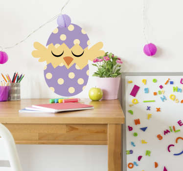 Nothing better for a joyfull atmosphere than an Eastern drawing wall decal representing a little bird and an Eastern egg !