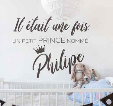 Sticker Chambre Enfant Il était une fois un prince