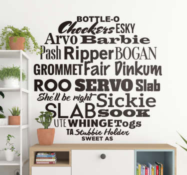 Text wall sticker designed on a round surface with quotes. Available in different colors and size options. Easy to apply.