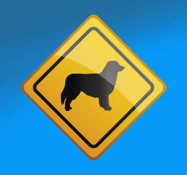 A baby on board theme car sticker with the design of an Australian shepherd. Available in any desired size. Easy to apply.