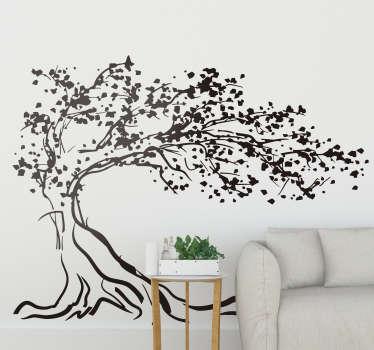 Träd i vindmuren klistermärke