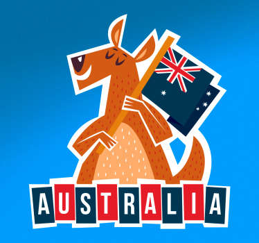 Australia flag wall art sticker to decorate any space of choice. Available in any size of choice. Easy to apply and self adhesive.