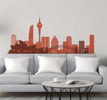 Sydney Skyline Silhouette Sticker