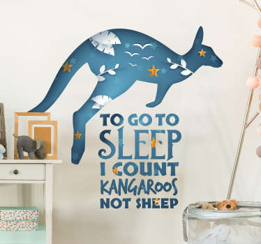 Sleep Count Kangaroo Text Sticker