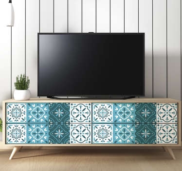 Decorative geometric pattern furniture decal to decorate any furniture in the home. Available in nay required size. Easy to apply.