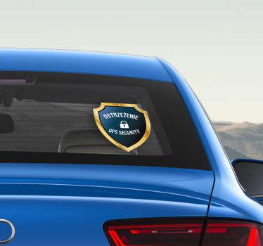 """Chcesz udekorować auto w inny sposób? Nasze naklejki samochodowe z napisem """"Ostrzeżenie - GPS Security"""" pozwolą Ci to zrobić w oryginalny sposób."""
